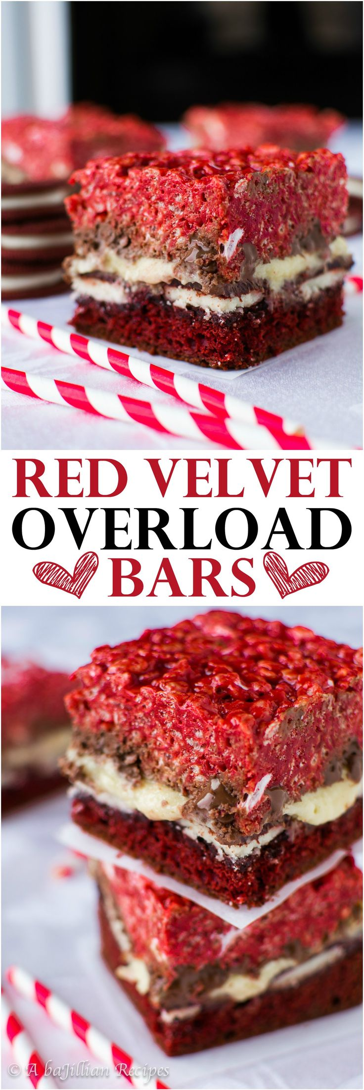 Triple the red velvet which means triple the temptation in these Red Velvet Overload Bars!