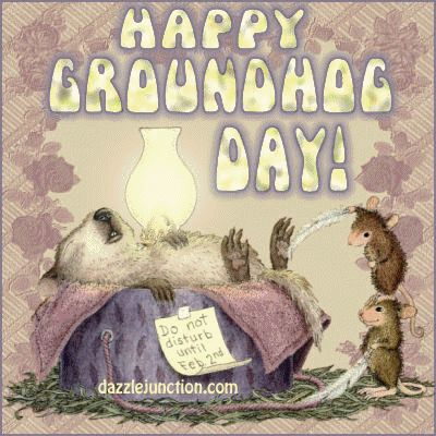Find free Groundhog Day greetings, pictures, comments, images, graphics, gifs, pics, quotes, cards, photo covers, and stickers for Facebook.  Click to share pictures on facebook or use html codes on  profiles, tumblr, twitter, myspace, fubar, for greeting cards, forums, blogs and more.