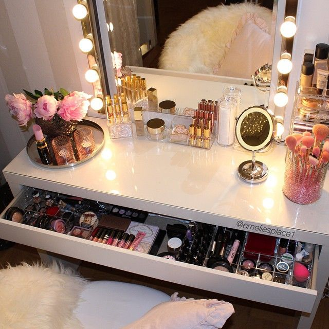 beautifully decorated make up vanity my first place pinteres
