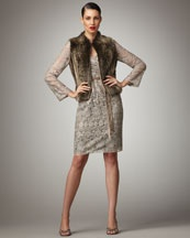 Kay Unger New York  Antiqued Lace Dress  $440.00