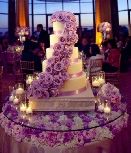 Purple Wedding Decor Cake