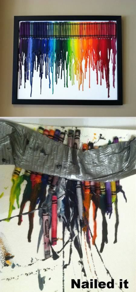 Hilarious Pictures of Pinterest FAILS!!!  Crayon Art  LAUGHING SO HARD!!!!