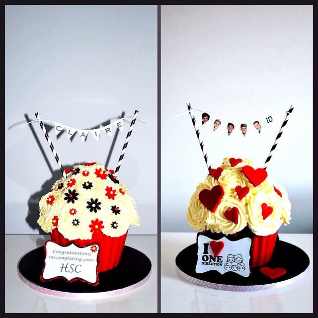 Cake Art South Penrith : HSC Giant Cupcake, One Direction Giant Cupcake, Penrith ...