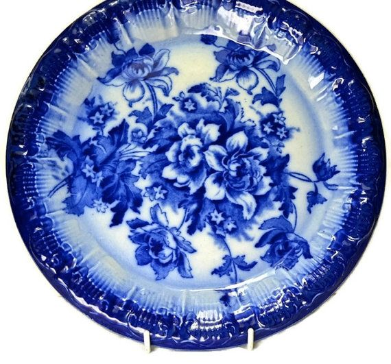 Victorian Flow Blue Charger Plate Blue by FeltersCottage on Etsy