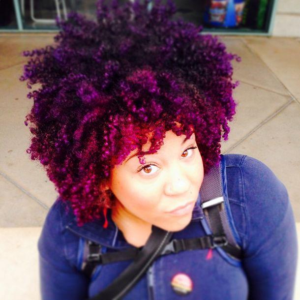 15 Gorgeous Ways Black Women Wear Purple Hair
