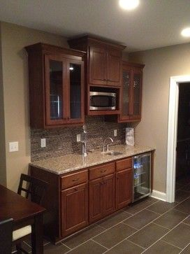 Basement kitchenette -- about this size, but with washer/dryer in place of two lower cupboards