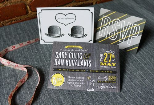 Gay Marriage Wedding Invitations: 25 Best Images About Gay Wedding Invitations & Stationary