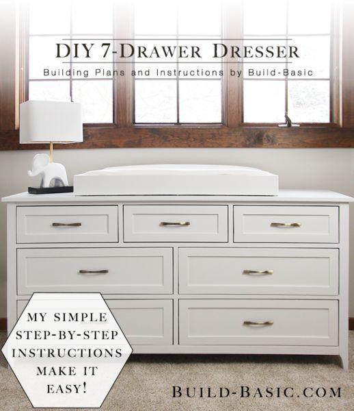 DIY 7 Drawer Dresser – Free Building Plans