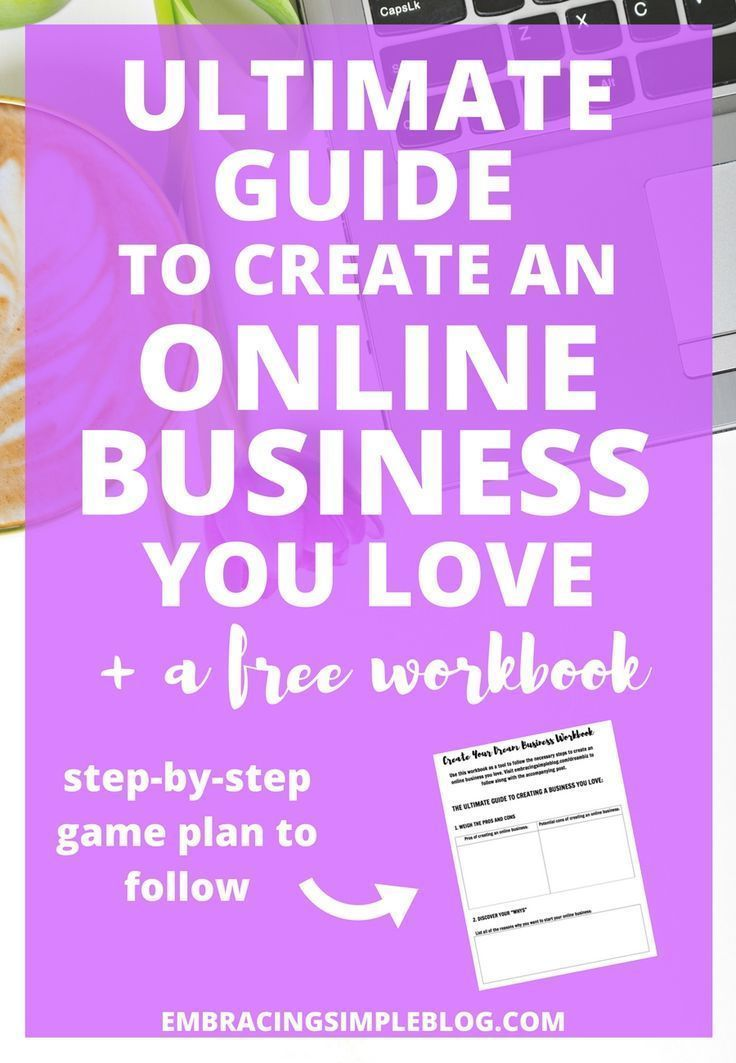 Do you have a dream to create an online business you love? Follow this ultimate step-by-step guide to create your own business that will allow you to follow your passions, help others, and make money! Plus download your free workbook that will walk you through planning out every detail :) Let's make your dream of being a business owner a reality!