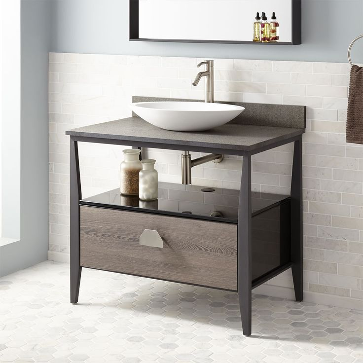 Pic On  Caillen Stainless Steel Vessel Sink Vanity Gray Wash