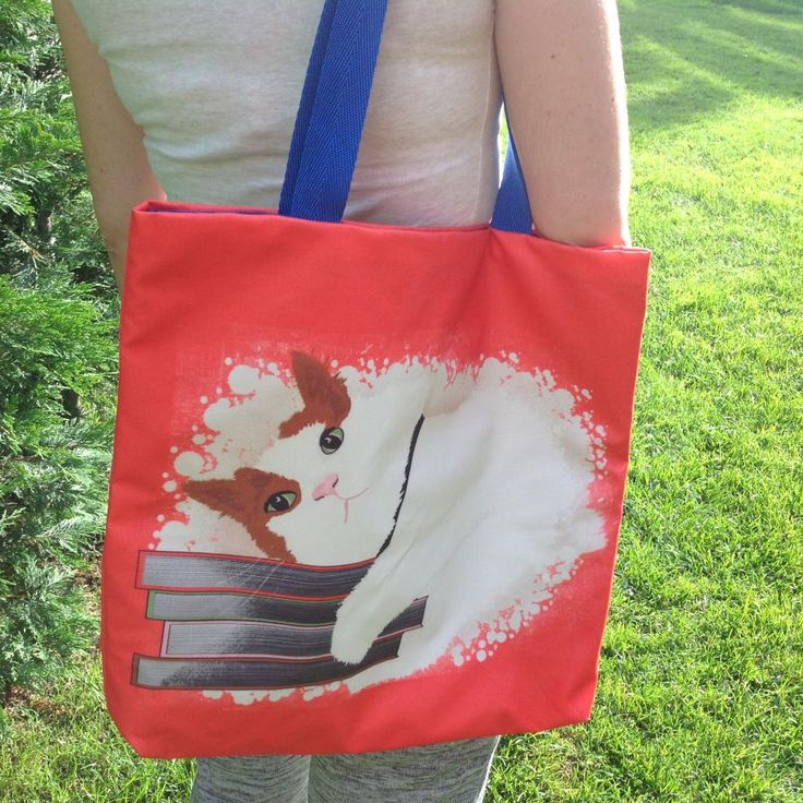 Benek The Book Lover Cat - ( Baskı Zemini Mercan ) - Özel Tasarım Baskılı Plaj Çantası Zet.com'da 129.99 TL -  https://zet.com/tasarimci/funkshion