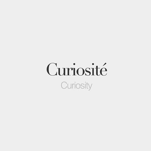 Curiosité (feminine word) | Curiosity | /ky.ʁjɔ.zi.te/
