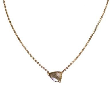 Rebecca Lankford   Floating Diamond Slice Necklace in Necklaces Pendants at TWISTonline