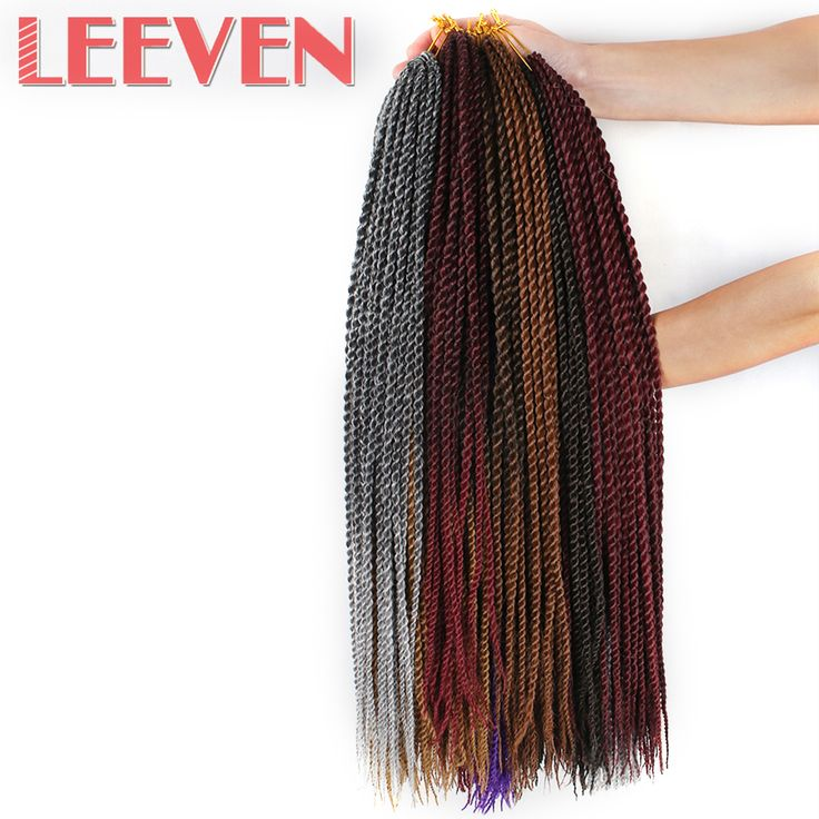 Leeven Senegalese Twist Crochet Braid Hair Ombre Kanekalon Synthetic Braiding Hair Extension 22inch 30strands 1PCS #Affiliate
