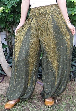 Harem Wide Leg Yoga Pants Trousers Beach Dance Boho Bohemian