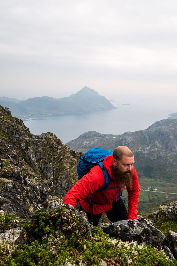 SNOTA: The Snota range consist of backpacks with a focus on low weight, stability and easy to organize the gear you carry. Backpacks from 21L up to 55L and a model with features for all four seasons.  Photo loacation: #Lofoten #Helsport #backpack #snota