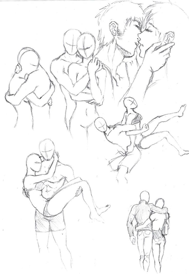 How to Draw the Human Body - Study: Couples Posing for Comic / Manga Character Reference