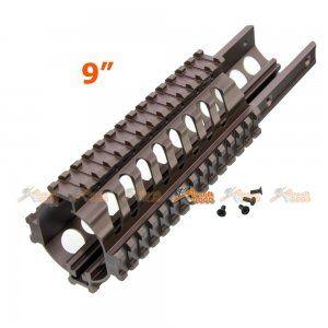 Tokyo Arms Tactical CNC Metal Rail Handguard for KWA Kriss Vector GBB (9inch, TAN)