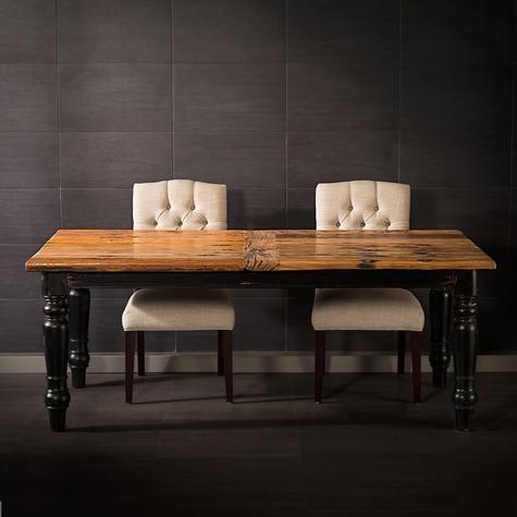 Table à diner Raja en bois recyclé de vieilles voies ferrées