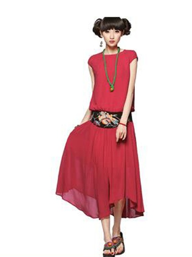 Nextwholesale.com…..new arrival…the most popular #clothing in #China,   #shirt,#dress,#pant,#tops  #Wholesale chiffon short sleeves round neck long dress