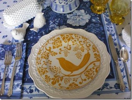 Tablescape Thursday - Love the milk glass butter dish.