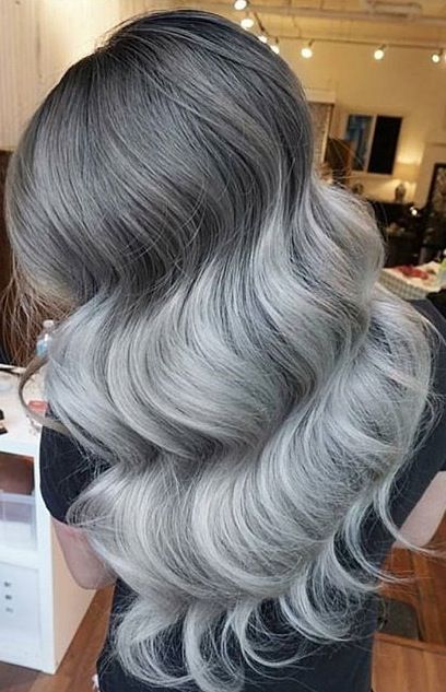 Chrome Silver Hair And Huge Waves By Eva Lam Hot Beauty Magazine Facebook Com