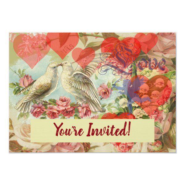 Heart Romantic Valentine/'s Day Art INSTANT DOWNLOAD Bird Love Funny Parrots in Love Print PRINTABLE Vintage Animal Love Illustration