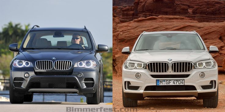2014 BMW X5 F15 vs. 2011 BMW X5 E70 Front View