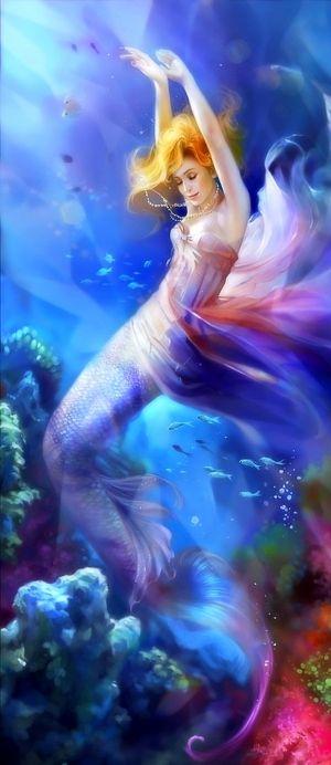 Fantasy Mermaid Art - I wish I had this to frame!!