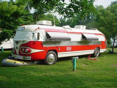 coolest RV ever-Ryan would love to do an old bus conversion someday