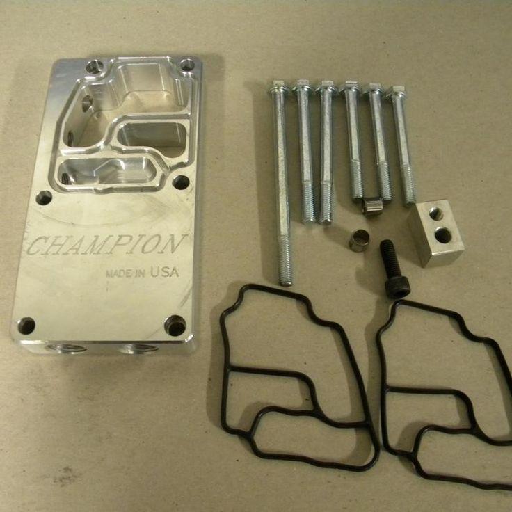 EconoMotorsports Champion Oil Distribution Block - Cooler & Gauge Plate M50/M5X/S50/S5X