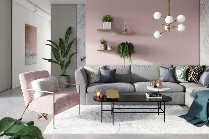 1001 Ideen Fur Bilder Fur Wandfarbe Altrosa Die Modern Und Stylisch Sind In 2020 Kleine Wohnung Wohnzimmer Wohnzimmer Grau Wohnung Wohnzimmer