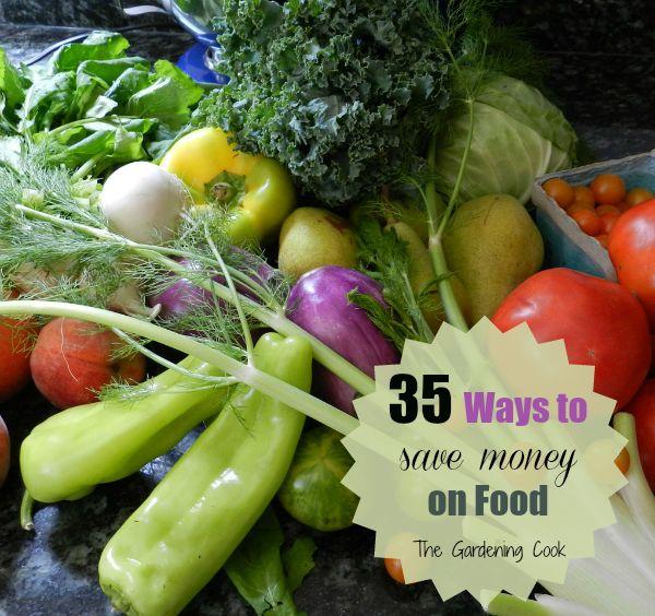 35 creative ways to save money on food.