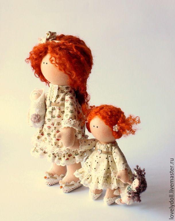 Купить Семейка Рыжих - рыжий, подарок на любой случай, интерьерная кукла, семья, семейка, подарок