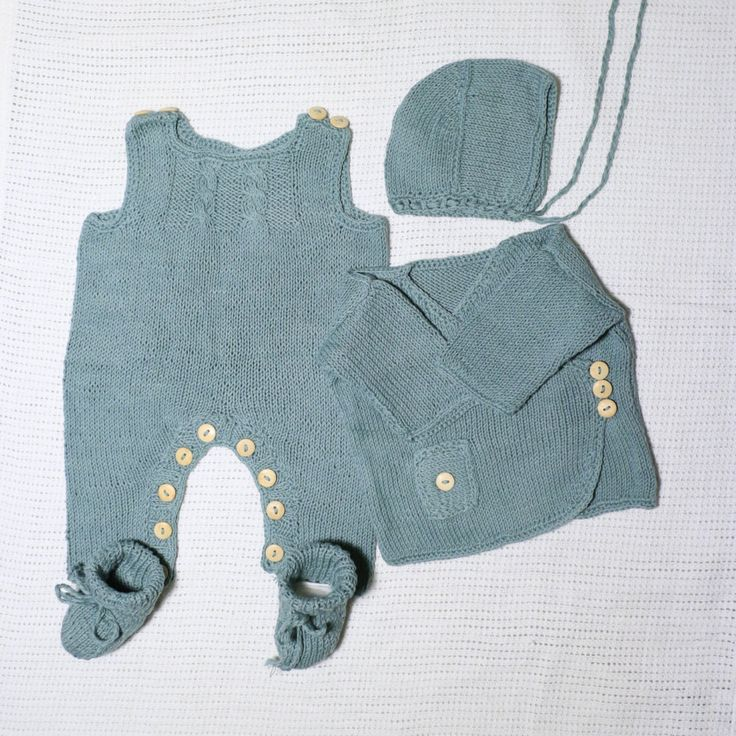 4 piece newborn layette. Newborn set. Baby Knit set. Take me home outfit. Baby…