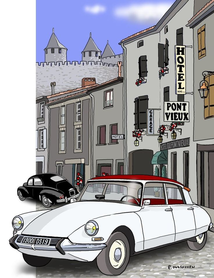 citroen ds illustrations