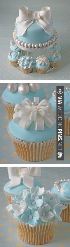 love the blue cake | VIA #WEDDINGPINS.NET