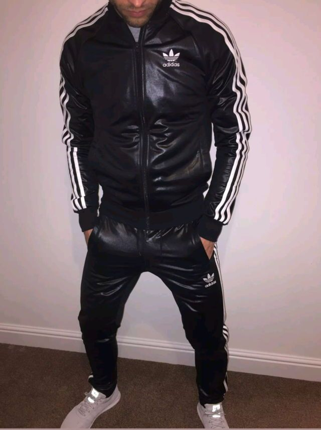 9f7e78929d Adidas | Adidas Leather Track Suit in 2019 | Adidas men, Mens ...