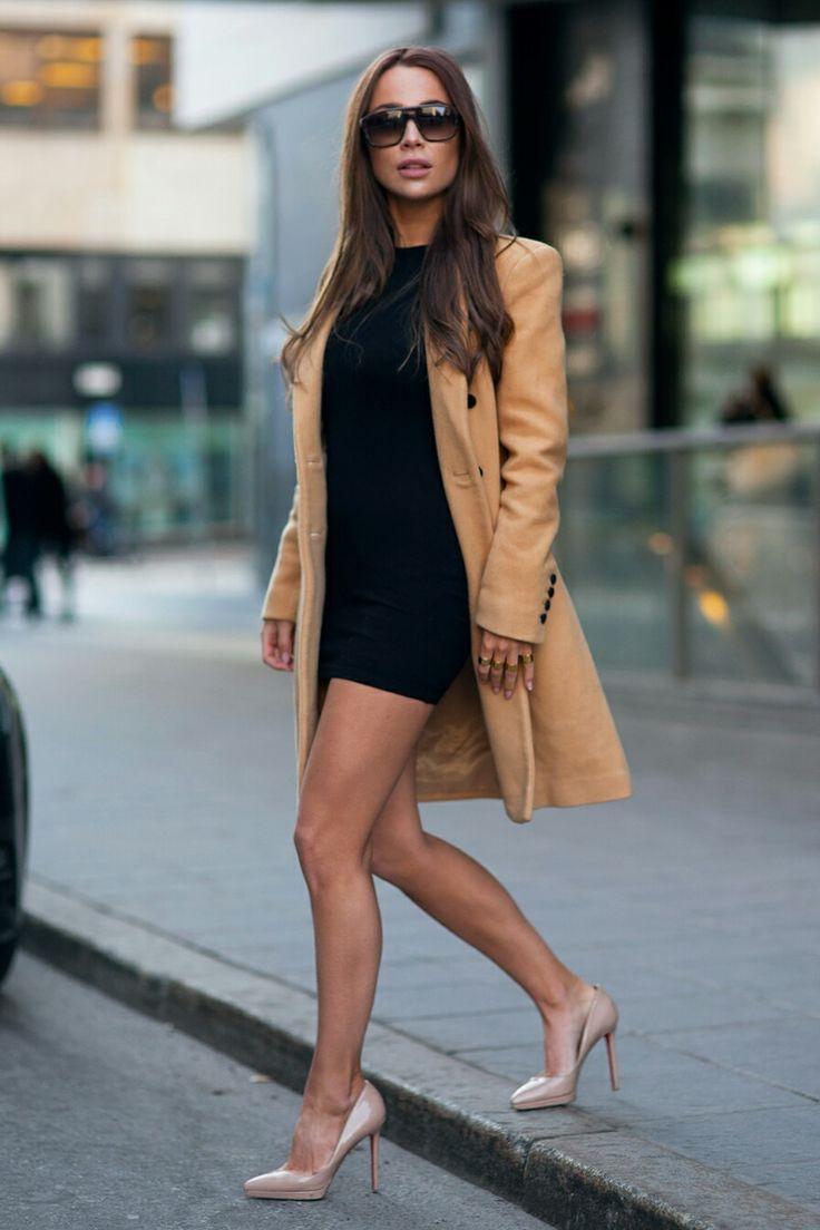 V. Shoes: CHRISTIAN LOUBOUTIN Dress: ASOS PETIT Coat: SELECTED FEMME Sunglasses: YSL Johanna Olsson