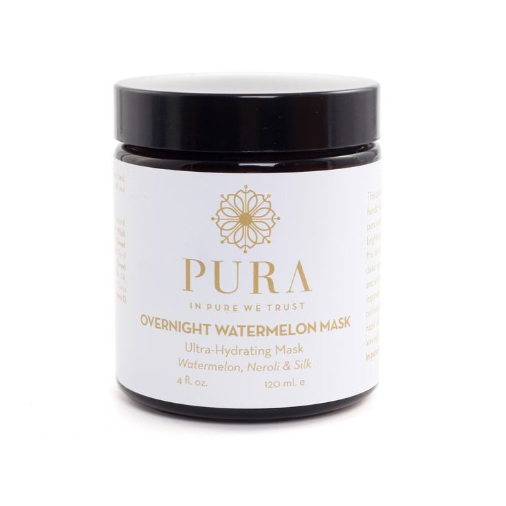 Overnight Watermelon Mask - handcrafted, natural, plant & flower derived essences, and 100% wild harvested ingredients by Pura Botanicals.