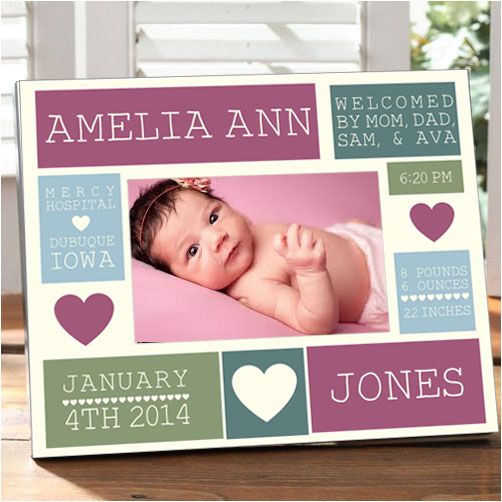 52 best personalized baby kids gifts images on pinterest kids this baby birth block frame will look perfect in any baby negle Choice Image