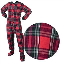 plaid flannel red footed pajamas for men and women - I figured the best way to start this pinboard is with fashionable flannel footed pajamas for men and women.  http://officialpajamas.couponclipped.com/pajamas/409/adult-red-footed-pajamas-for-men-women-on-sale