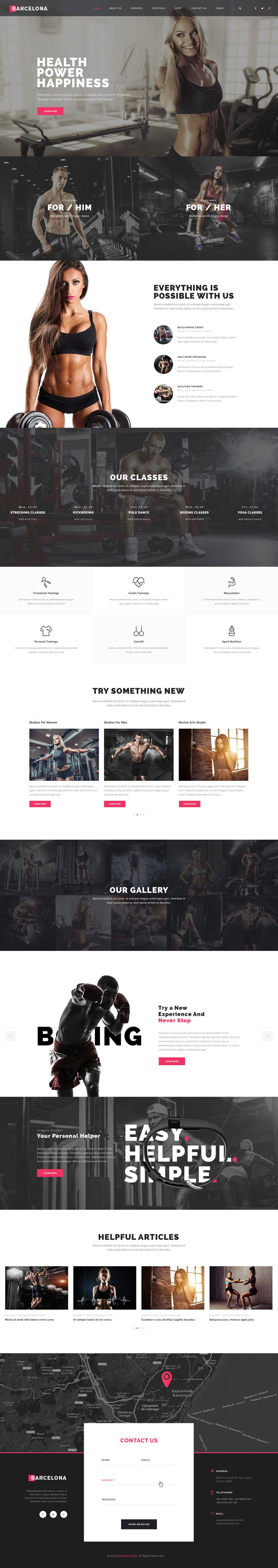 Barcelona - Sport, Gym, Fitness Template