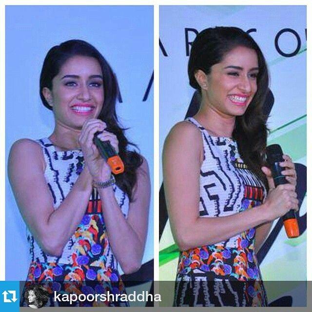 """#Repost @kapoorshraddha ・・・ #HairAndCare #Delhi @tanghavri @danielbauermakeupandhair ❤️ In peter pilotto from @moonriverindia ..assisted by @ekta_shah"" Photo taken by @tanghavri on Instagram, pinned via the InstaPin iOS App! http://www.instapinapp.com (02/20/2015)"