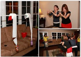 Invite and Delight: Minute to Win It Party Check out how's it hanging