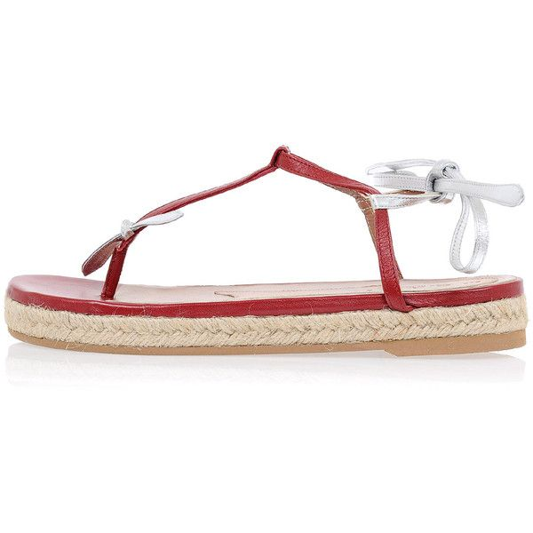 Marni Leather Flip Flops Sandals (1,480 GTQ) ❤ liked on Polyvore featuring shoes, sandals, multicolor, multi color sandals, marni, multi color shoes, multi colored sandals and leather footwear