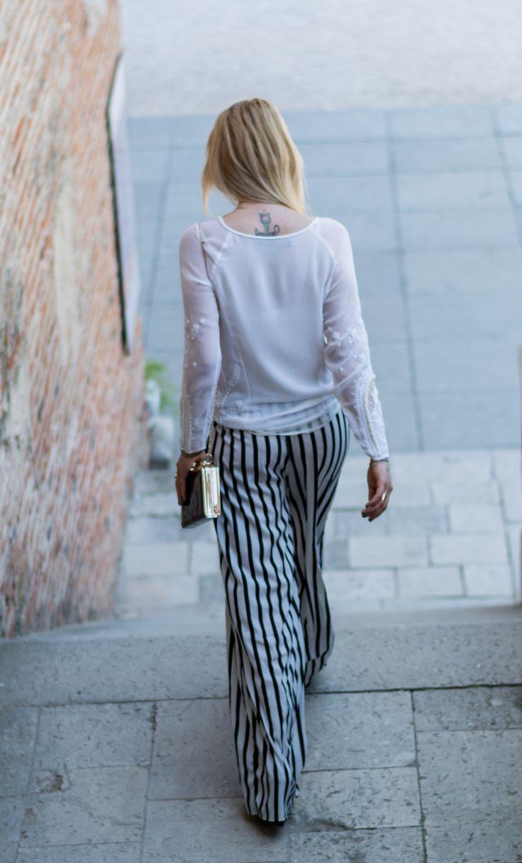 Fashion shooting, white Zara shirt, tattoo, summer outfit Monoclu.ro