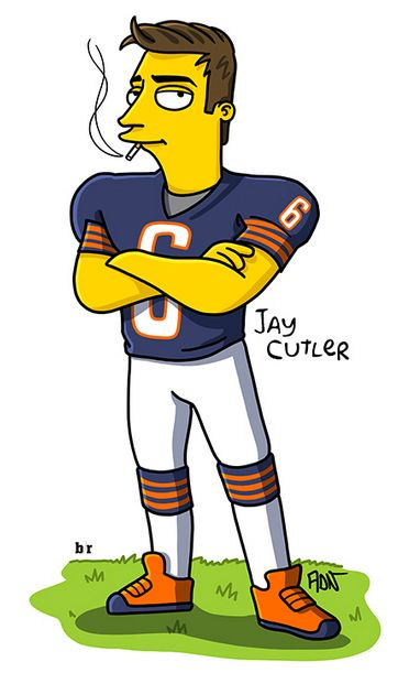 Smokin' Jay Cutler, Simpsonized #SmokinJayCutler #Simpsonized