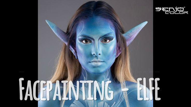 Claudia Kraemer schminkt mit Senjo Color BASIC und Latex Ohren #senjocolor #facepainting #timelapse #video #elfe #bodypainting #bodyart