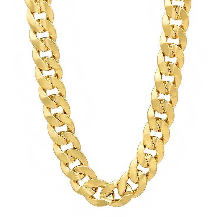 14kt Yellow Gold Cuban Chain 7.1 mm Width 8.5 Inch Long (13.8 Grams) by RG&D